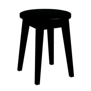 Czarny niski stołek z drewna dębowegoRowico Frigg