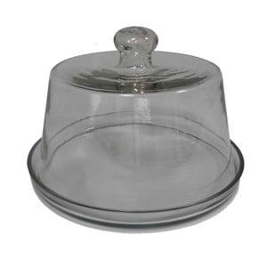 Szklana taca z pokrywką Antic