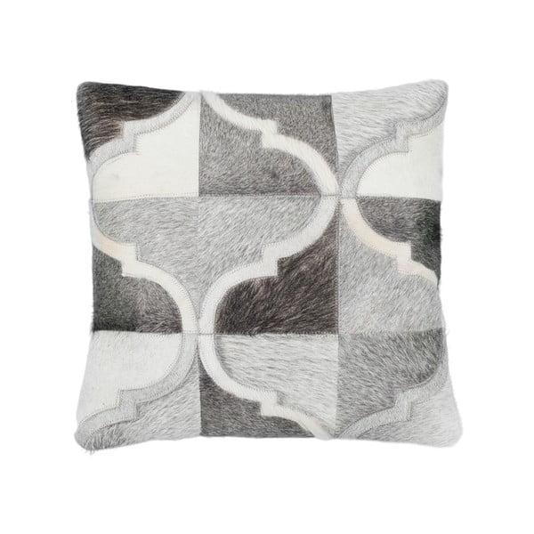 Poduszka skórzana Eclipse Grey, 45x45 cm