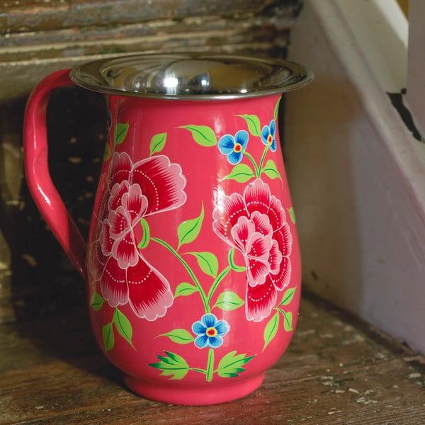 Dzbanek Franjipani Floral Jug, różowy