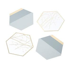 Zestaw 12 podkładek Talking Tables Metalic