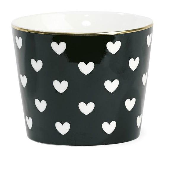 Doniczka ceramiczna Black/White Hearts