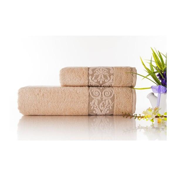 Zestaw 2 ręczników Bamboo Glory Light Salmon, 50x90 cm i 70x140 cm