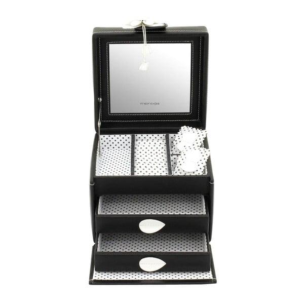 Szkatułka na biżuterię Amiral Black, 15x14x13 cm