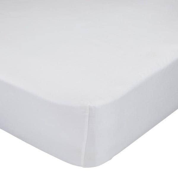 Białe elastyczne prześcieradło bawełniane Baleno Little W, 70x140 cm