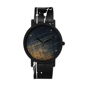Zegarek unisex z czarno-białym paskiem South Lane Stockholm Avant Noir