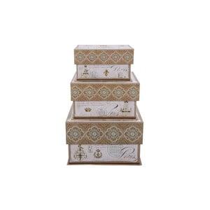 Zestaw 3 pudełek Elegant Chandelier