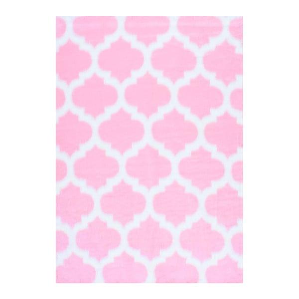 Różowy dywan nuLOOM State Pink, 152x213 cm