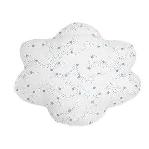 Biała poduszka w niebieskie gwiazdki Art For Kids Cloud