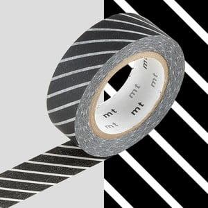 Taśma dekoracyjna washi Rayé Noir