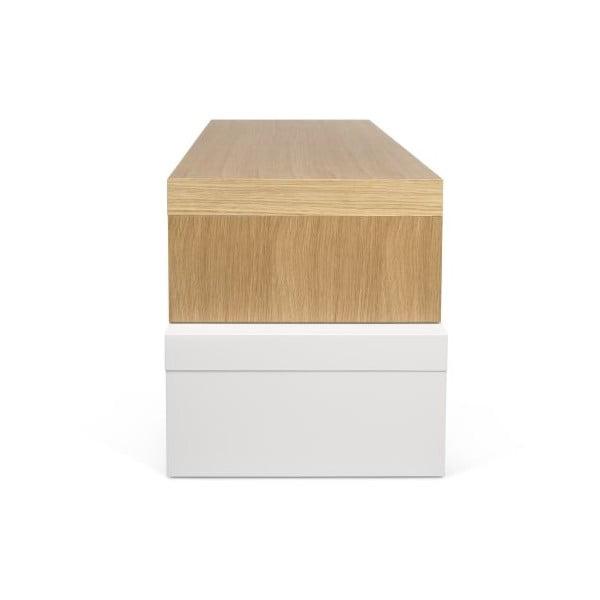 Biały stolik regulowany TemaHome Cliff Oak