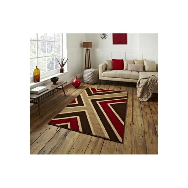 Dywan Matrix Brown Red, 120x170 cm