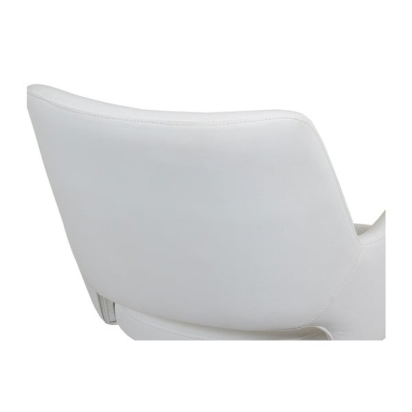 Białe krzesło biurowe z podłokietnikami Santiago Pons Avedis