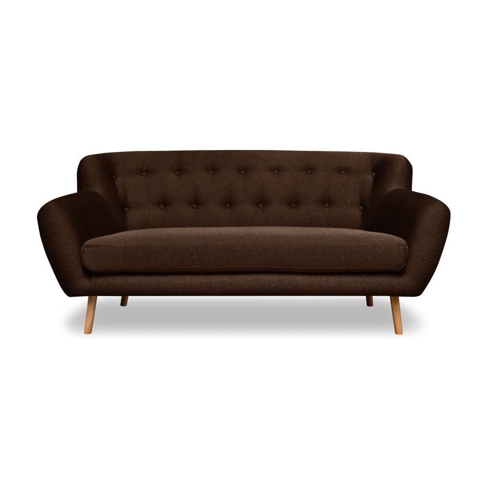 Brązowa sofa Cosmopolitan design London, 162 cm