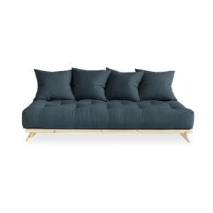Sofa z niebieskim obiciem Karup Design Senza Natural/Petrol Blue