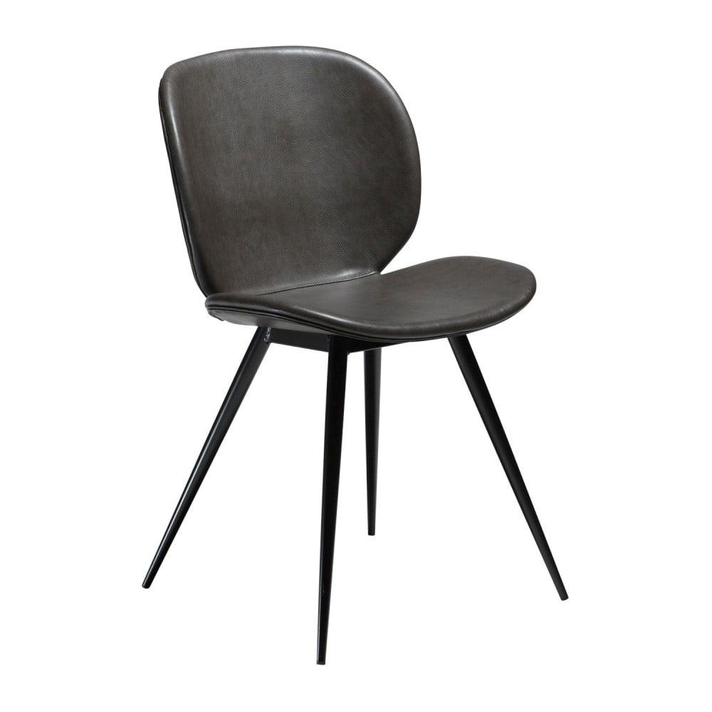 Szare krzesło ze skóry ekologicznej DAN-FORM Denmark Cloud