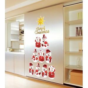 Zestaw 11 naklejek świątecznych Fanastick Snowmen