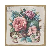 Obraz Flowers Paint, 38x38 cm
