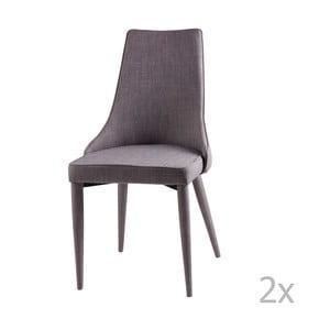 Zestaw 2 jasnoszarych krzeseł sømcasa Flora