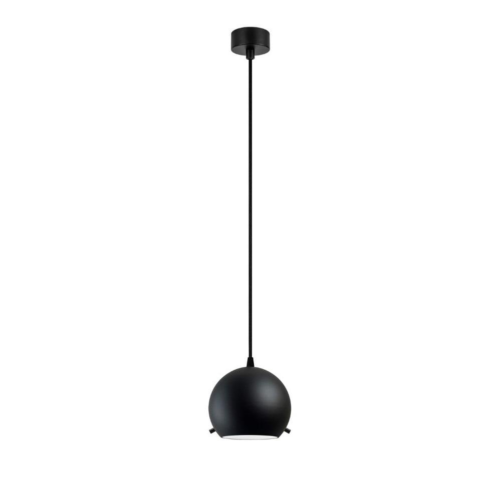 Czarna matowa lampa wisząca z czarnym kablem Sotto Luce Myoo