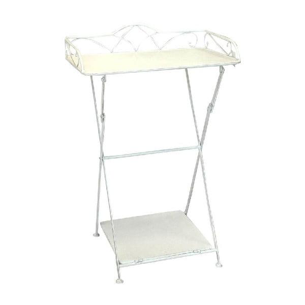 Żelazny stolik z półeczką Vintage, 51x80x38 cm