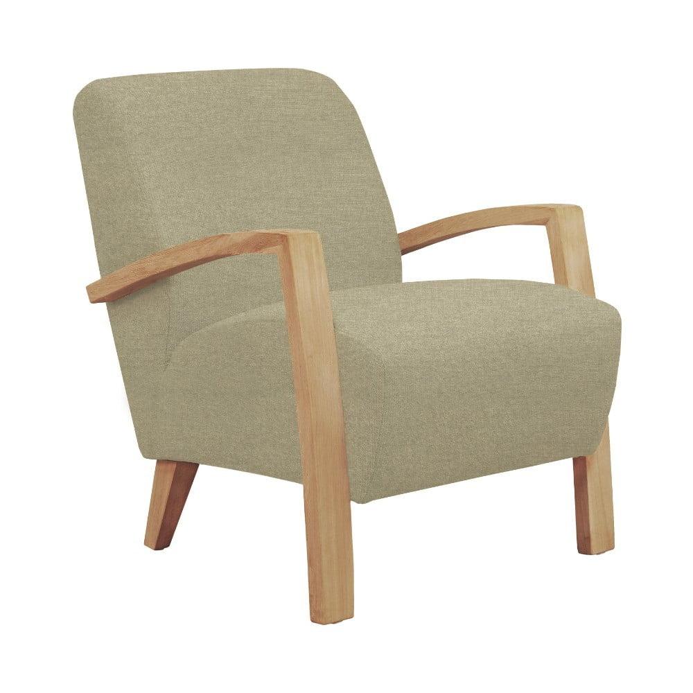 Beżowy fotel z jasnymi nogami Windsor & Co Sofas Luna
