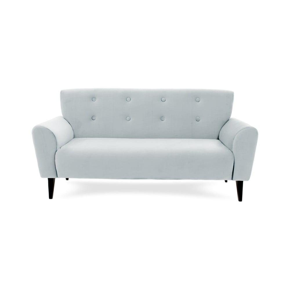 Popielata 3-osobowa sofa Vivonita Kiara