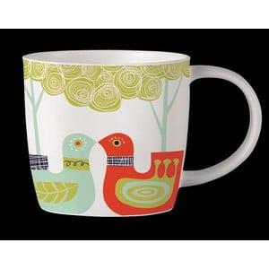 Kubek z angielskiej porcelany Folkland Love Birds White