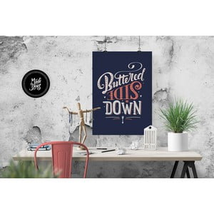 Plakat Buttered Side Down, A3