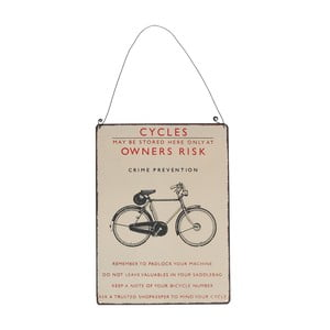 Tabliczka ścienna Rex London Bicycle, 17 x 23 cm
