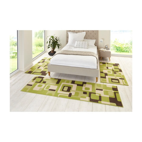 Zielony dywan Hanse Home Hamla Retro, 80x200cm