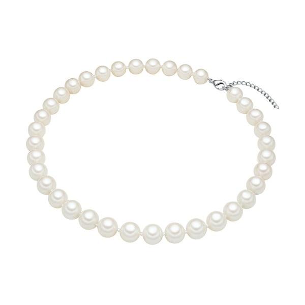Perłowy naszyjnik Muschel, białe perły 10 mm, długość 40 cm
