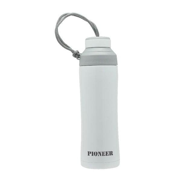 Biała butelka sportowa Pioneer, 450 ml