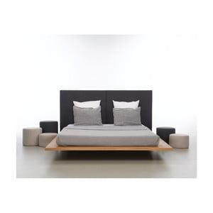 Łóżko z olejowanego drewna dębowego Mazzivo Mood 2.0, 140x220 cm