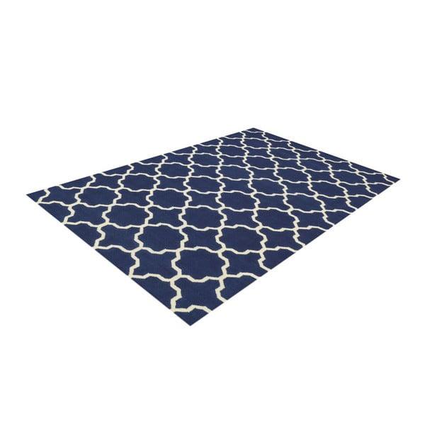 Ręcznie tkany dywan Maria Blue/White, 60x90 cm