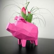 Papierowa rzeźba Prosiątko, różowa