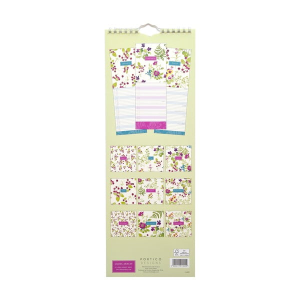 Kalendarz podłużny Portico Designs Laura Ashley