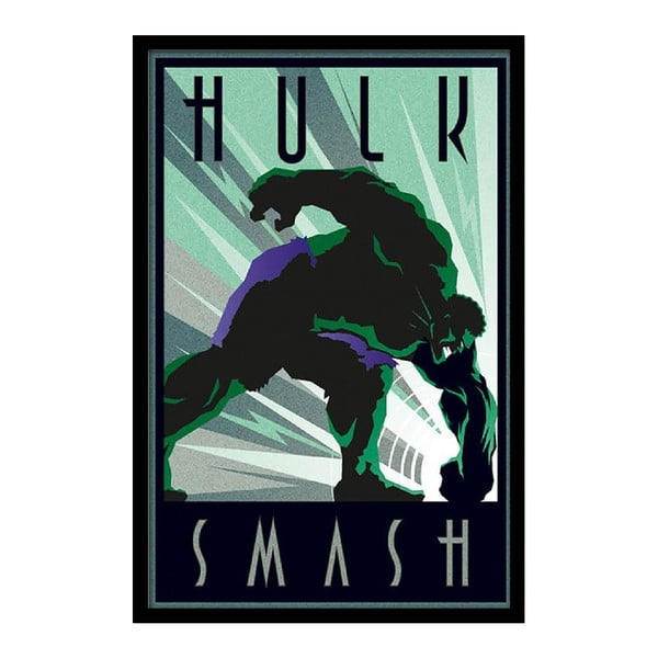 Plakat Hulk Smash, 35x30 cm