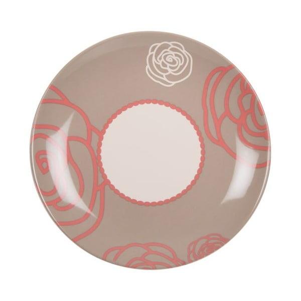 Komplet 18 talerzy ceramicznych Scarlet Brown