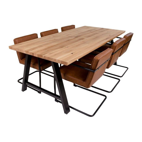 Stół z blatem z drewna dębowego House Nordic Avignon,220x100cm