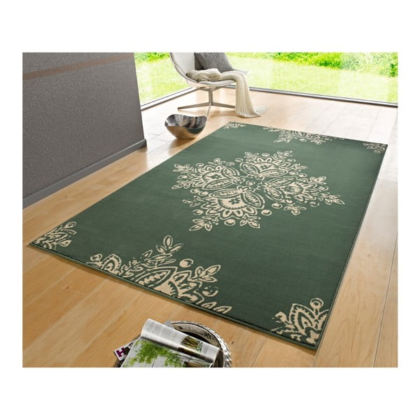 Zielony dywan Hanse Home Gloria Blossom, 160x230 cm