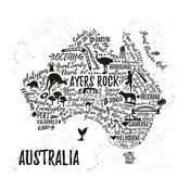 Obraz Homemania Maps Australia Pictures, 60x60 cm
