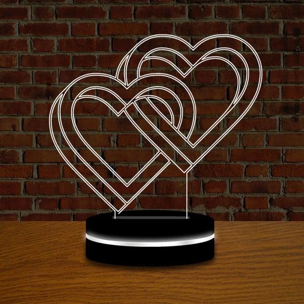 Lampka z efektem 3D Double Love