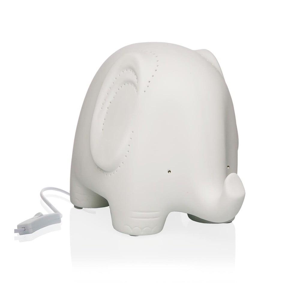 Porcelanowa lampa stołowa w kształcie słonia Versa