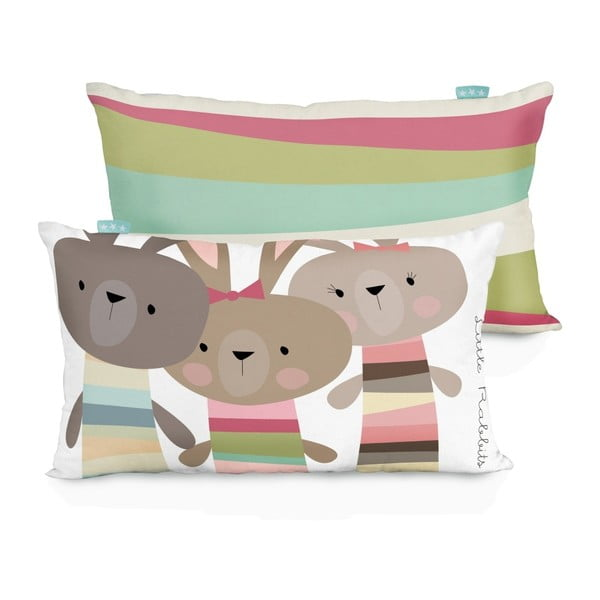 Bawełniana dwustronna poszewka na poduszkę Little W Little Rabbits, 50x30 cm
