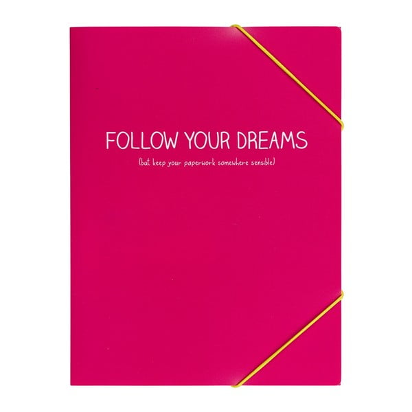 Teczka na dokumenty Follow Your Dreams Pink Doc