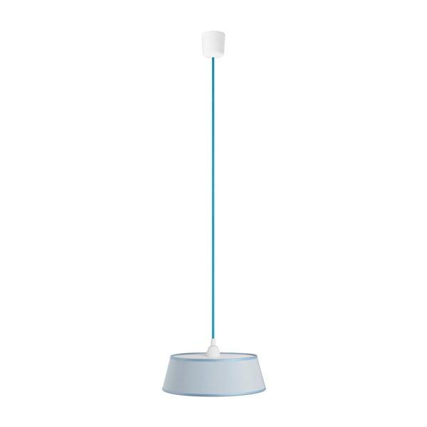 Lampa wisząca Tako, jasnoniebieska/niebieski kabel