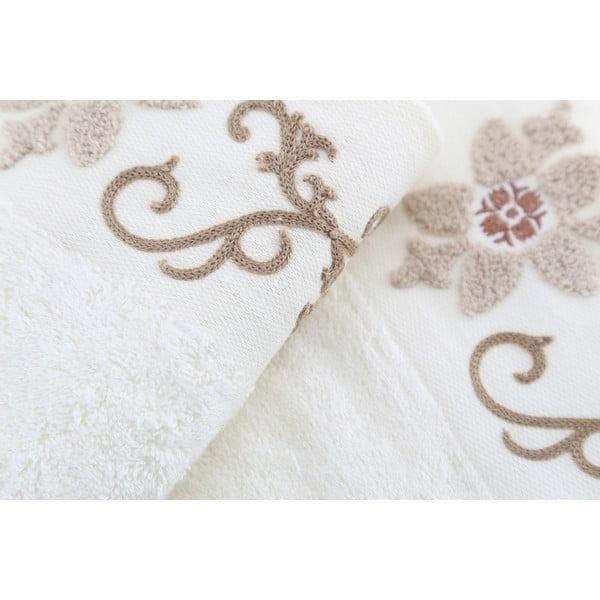 Zestaw 3 ręczników Cicek Cream