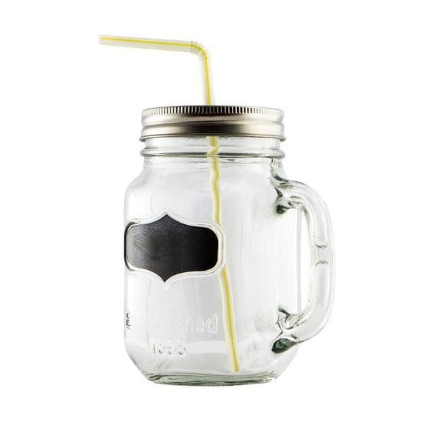Szklanka ze słomką Mason Jar