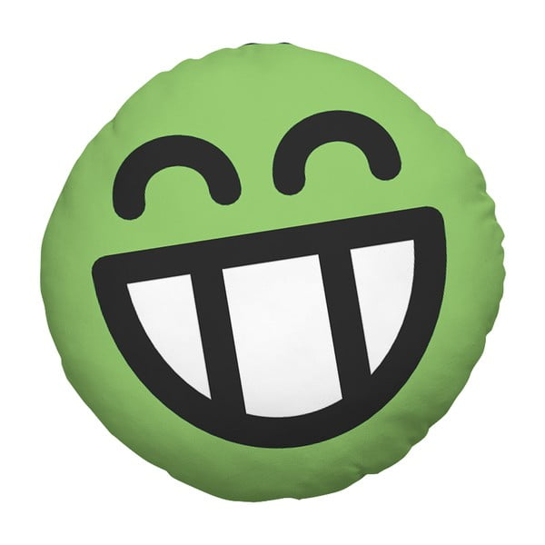 Poduszka Emoji Green, 39 cm